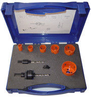China M3/M42 Bi-Metal HSS Hole Saw Set 9pcs With Plastic Case And Painting Color factory