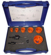 China 9 Pieces High Speed Bi Metal Hole Cutter Kit For Cutting Holes On Metal Sheet factory