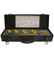 HSS Bi Metal Hole Saw Set in Metal Case for Metal Yellow Color 7PCS Packing