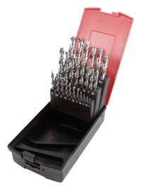 "China 29 Pcs HSS Jobber Drill Set M351/16"" - 1/2"" By 1/64"" Rose Plastic Box Packing factory"